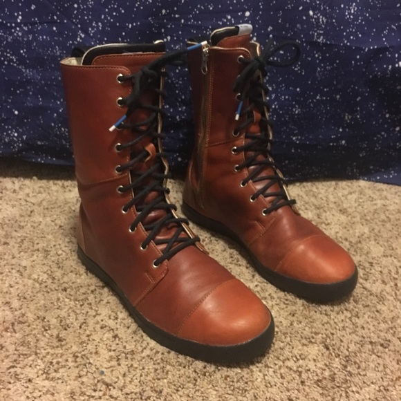 "the best attitude dbdff f6497 Adidas ""damen"" brown leather combat boots 8.5"